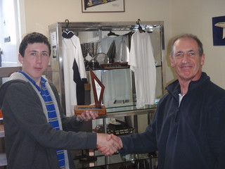 Andrew Coffin winner of the 2010 Junior Early Bird Race trophy   by PLSC (Panmure Lagoon Sailing Club)