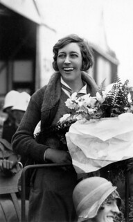 Aviator Amy Johnson after her arrival in Brisbane, Queensland in 1930