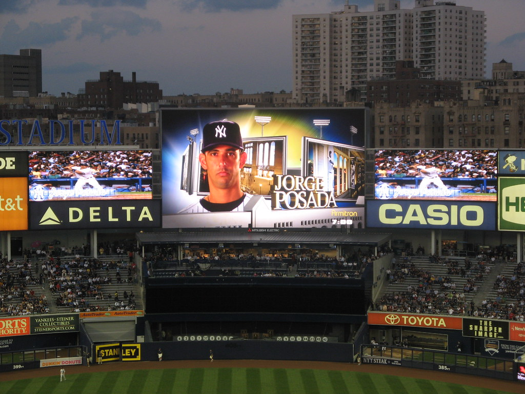 Yankee Stadium 09 15 09 Jorge Posada Scoreboard Graphic Flickr