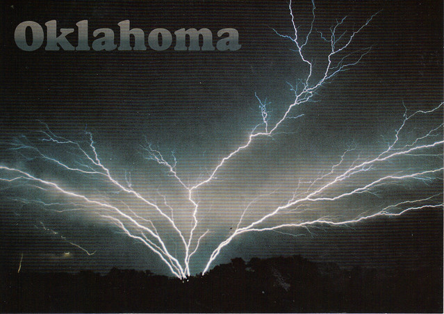 Oklahoma Lightning Postcard