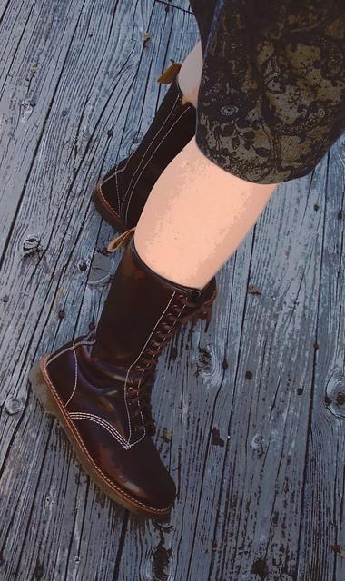 Skirt & Brown Boots
