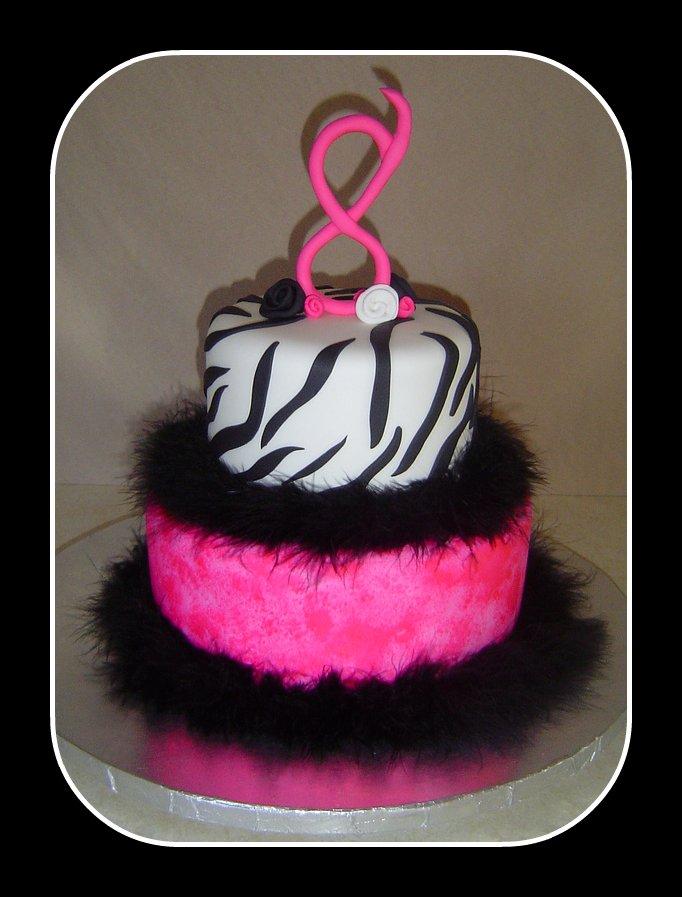 Brilliant Kailees Funky 8Th Birthday Cake A Photo On Flickriver Funny Birthday Cards Online Benoljebrpdamsfinfo