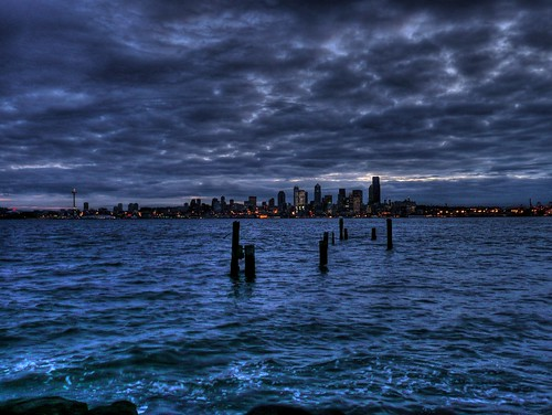 Puget Sound and Seattle from Alki Beach | by joiseyshowaa