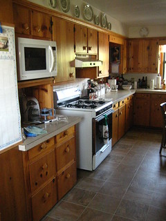 Aunt Evelyn's Knotty Pine Kitchen