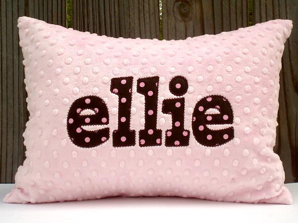 Applique Minky Chenille Pillows