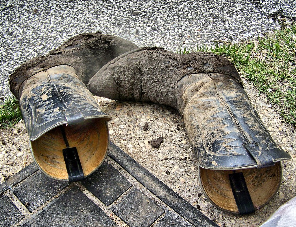 297bf5fc070 Muddy Cowboy Boots | The water level is very high here (and … | Flickr