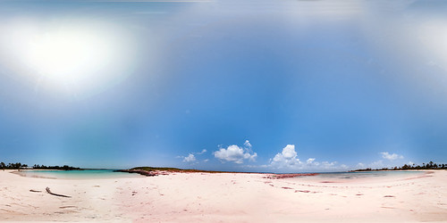 ocean panorama beach water sand caribbean bahamas eleuthera equirectangular twincove