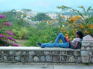 Young Woman Reads Overlooking Santiago de Cuba - Cuba | by Adam Jones, Ph.D. - Global Photo Archive