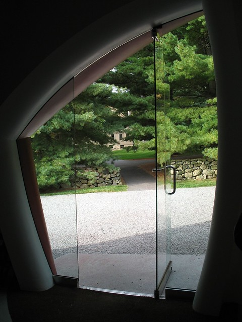 Looking outside from inside