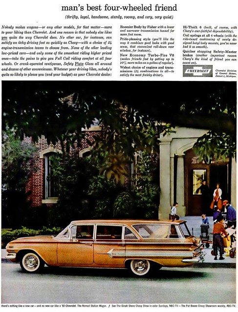 Chevrolet Nomad Station Wagon Advertisement - Ebony Magazine, April, 1960