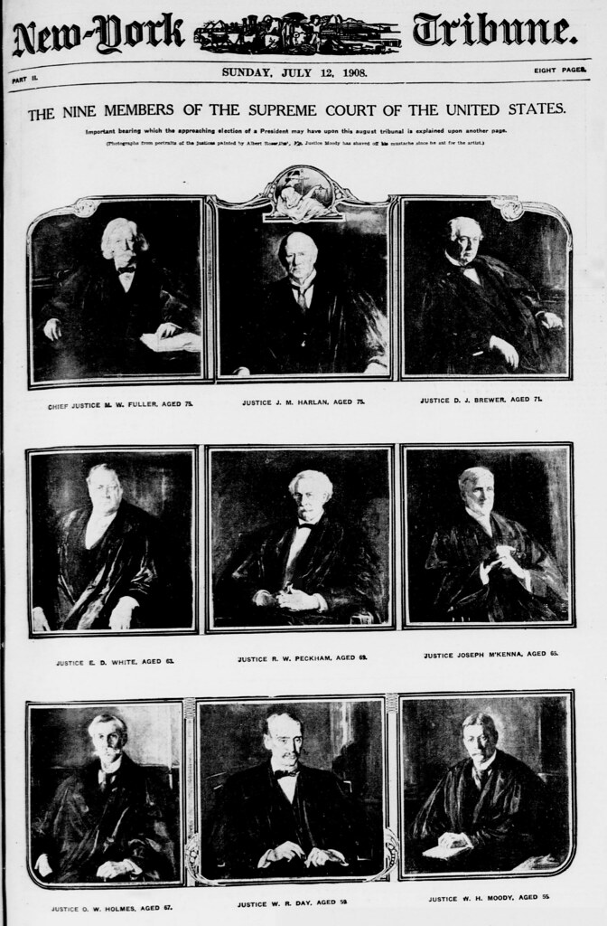 The nine members of the Supreme Court of the United States (LOC)