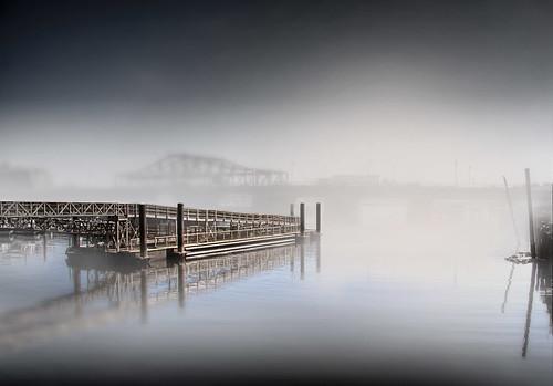 sea mist reflection water boston fog photoshop canon pier dock haze moody massachusetts mysterious 40d
