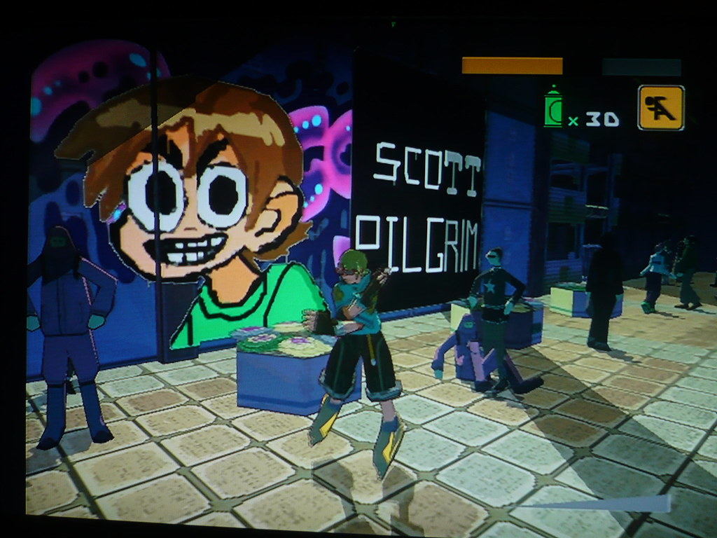 My Custom Scott Pilgrim Graffiti In Sega S Jet Set Radio F Flickr