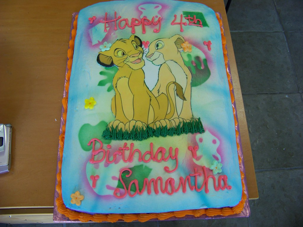 Groovy Simba And Nala Birthday Cake Tc27Jkw Flickr Funny Birthday Cards Online Bapapcheapnameinfo