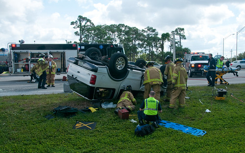 South Trail Fire District, Florida - Vehicle Rollover, Daniels Pkwy/Cleveland Ave | by Timothy Wildey