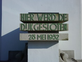 Art Deco lettering on the Afsluitdijk Monument | by Ernest W Adams