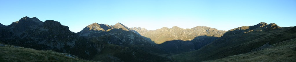 Morning Panorama from Refuge de Rulhe, French Pyrenees