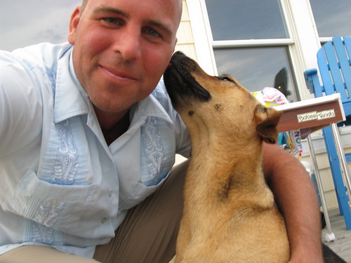Getting Love From Taxi Dog   by Wayan Vota