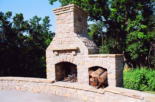 Outdoor Premium Fireplace | by Southwest Stone