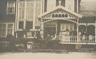 Keiser Wilhelm II besøker Fjellseter / German Emperor Wilhelm II visiting Fjellseter (1906)