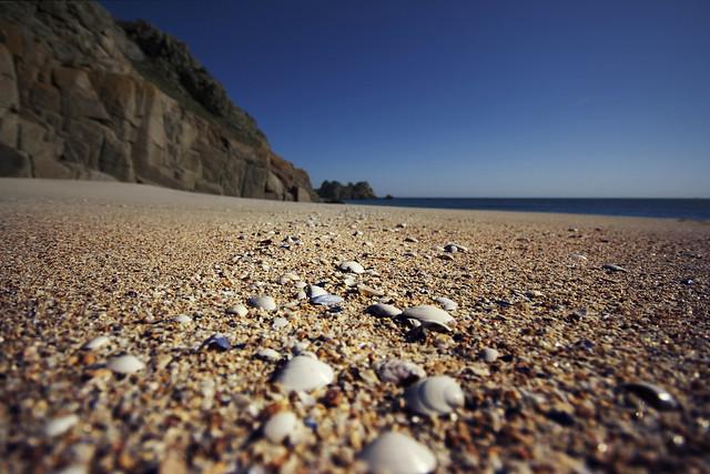 She sells seashells by the seashore... Cornwall, England.