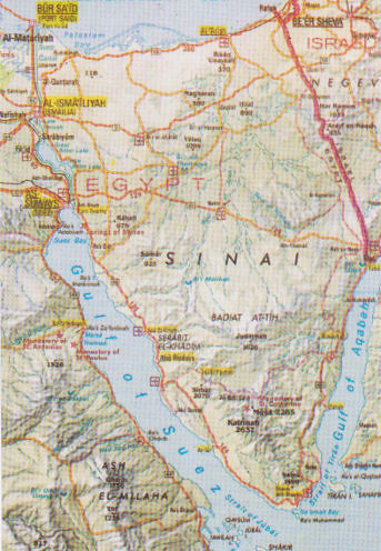 Map of Sinai Peninsula - Egypt | Yvonne Cooper | Flickr