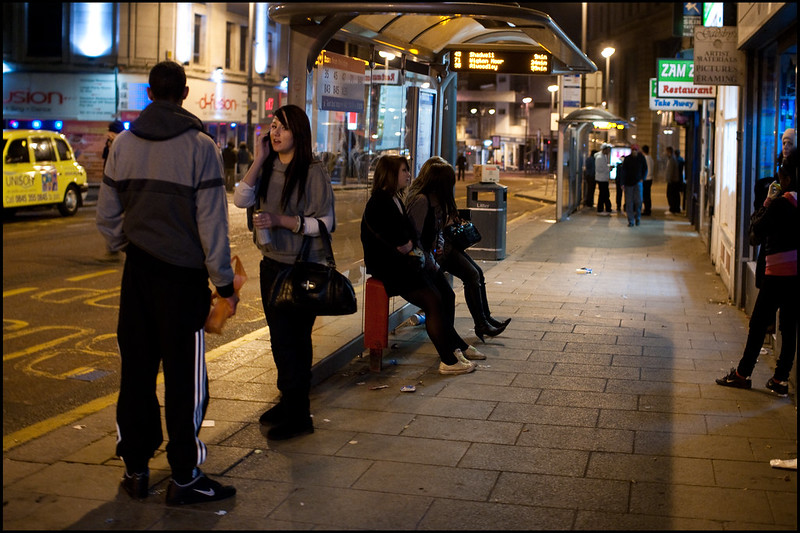 Bus stops, New Briggate