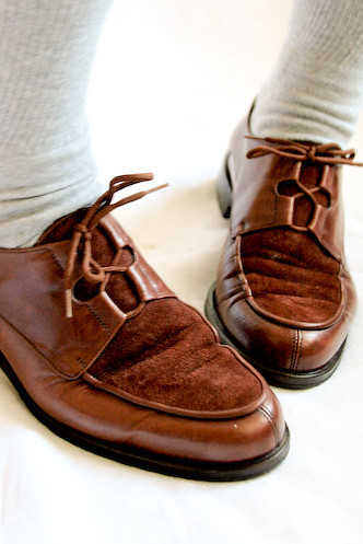 9202e7b5da861 VINTAGE 80s brown leather suede BROGUES OXFORD shoes 8 - 0… | Flickr