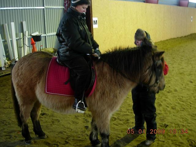 Jenni at  a Riding lesson
