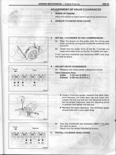 Valve adjustment B, 3B, 11B, 14B  | This is scanned from my