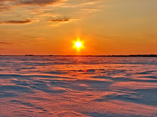 winter sunset snow quebec hiver neige 2009 laurentians coucherdesoleil laurentides