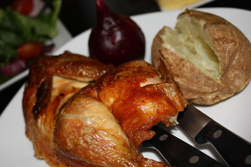 Rotisserie Chicken, Beet and Baked Potato | by chefelf