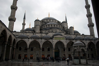 The courtyard of the Blue Mosque, Istanbul, Turkey | by MsAdventuresinItaly