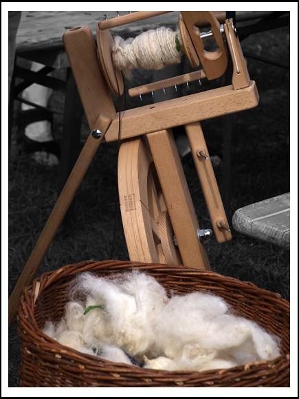 Schafswolle spinnen