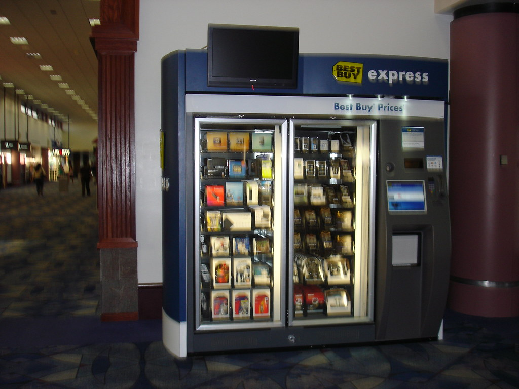 Best Buy Vending Machine | At Las Vegas airport. Next to ...