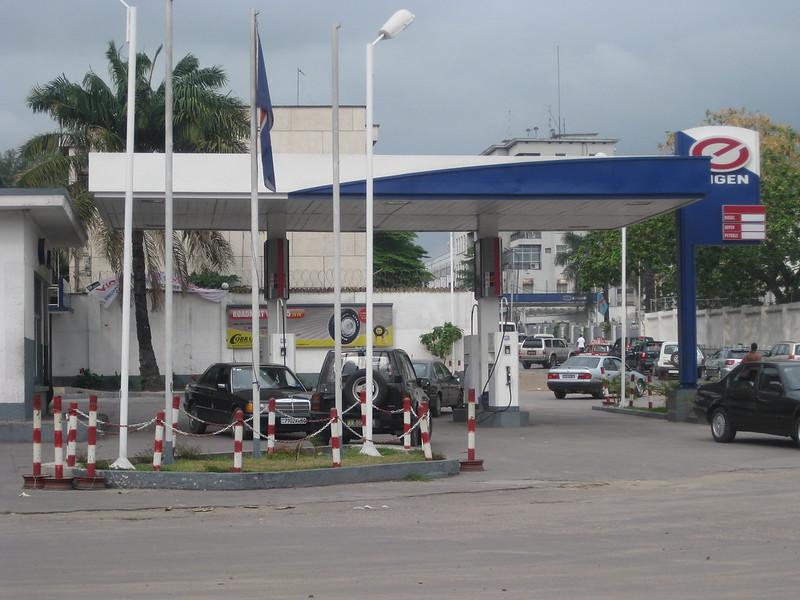 Une station de carburant à Kinshasa