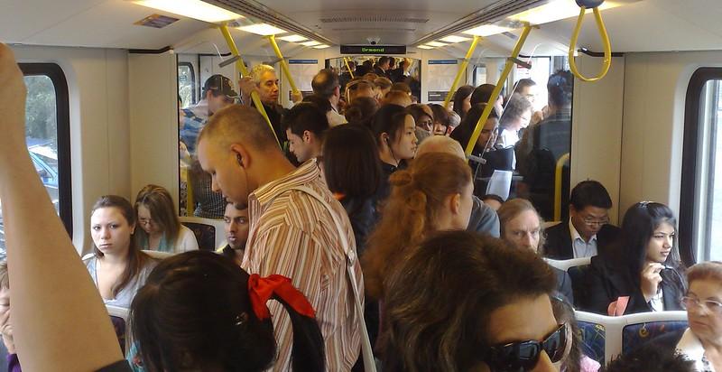 Crowded train, Frankston line