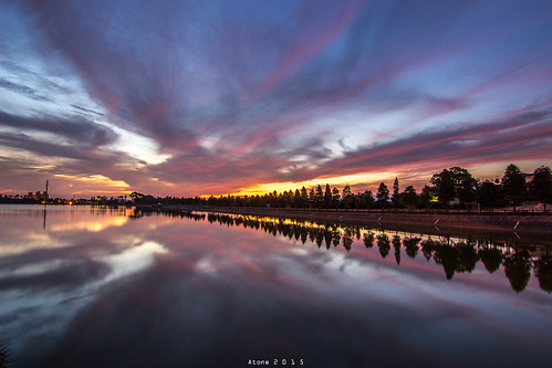 sunset star taiwan resort tokina 台灣 桃園 日出 倒影 atone 1116 火燒雲 600d 色溫 霄裡