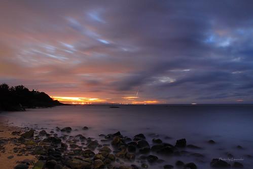 夕陽 雲 六塊厝 屯山 淡水 新北市 台灣 taiwan sunset bluehour