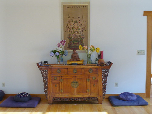 Dharma room altar | by Lorianne DiSabato