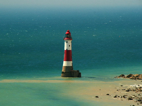 blue red sea lighthouse white beach nationalpark eastbourne valerie southdowns beachyhead sigma18200mm abigfave canoneos400d anawesomeshot january09 pearceval 15challengeswinner beautifulworldchallenges
