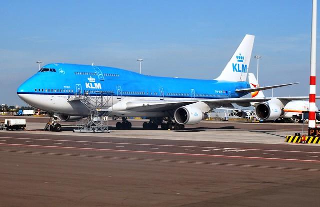 KLM Boeing 747 (PH-BFB) Schiphol Ramp