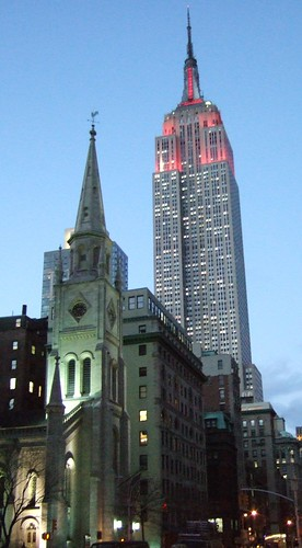 Empire State past NVP church