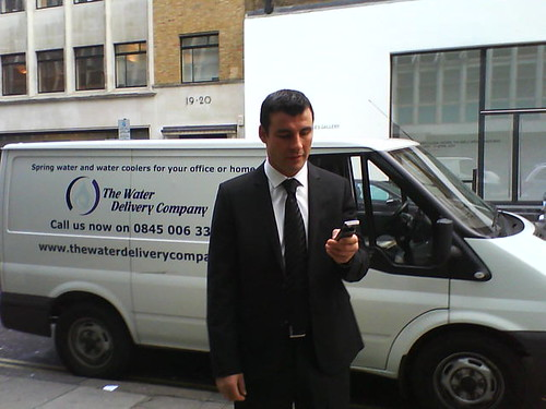 Joe Calzaghe delivers water coolers!