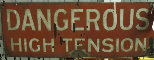 Dangerous High Tension sign | by alexlomas