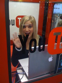 iJustine in the YouTube booth | by AdamChandler86