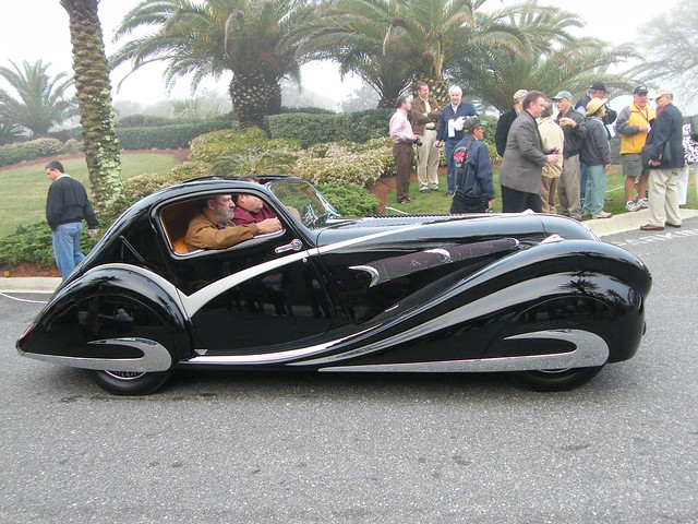 1936 Delahaye 135 Competitione Coupe at Amelia Island 2009