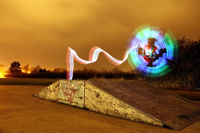 Skate park windmill