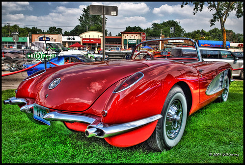 red chevrolet chevy woodward corvette 2009 hdr vette 1959 chev photomatix woodwarddreamcruise 3exp gmfyi 15thannual