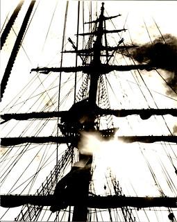 Regina Maris at anchor of Christmas Island. Photo by Shep Root.